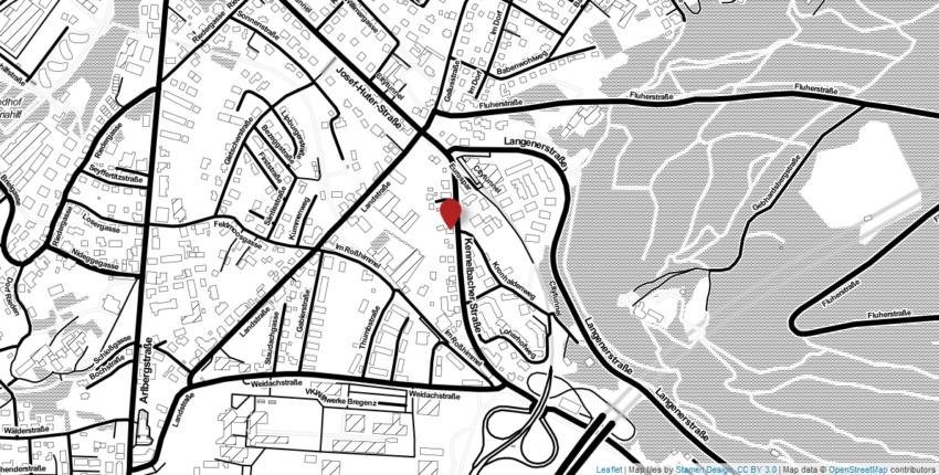 Straßenplan Bregenz, Kennelbacherstraße 22